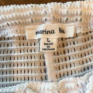 Marina Blu White Mesh Beach Cover Up Pants